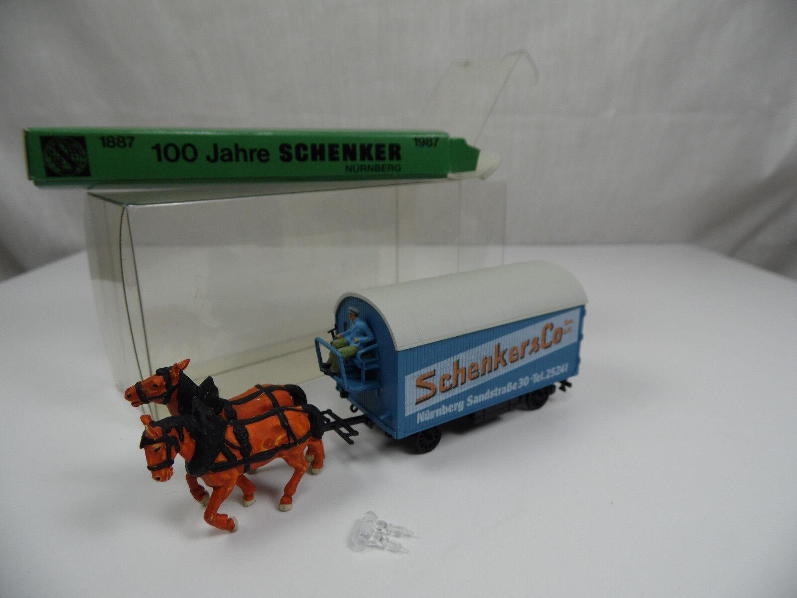 H1199, Rietze Pfederfürwerk 100 Jahre SCHENKER FRAMTID 65533;65533; rnberg låda 1 87  H0 6010 SOSE
