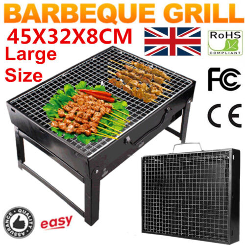 Portable Folding Charcoal BBQ Barbecue Grill Travel Picnic Camping Outdoor Stove