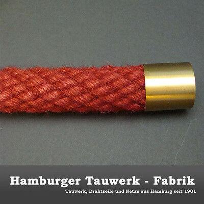 Hamburger Tauwerk Fabrik 2 Endkappen und 3 Seiltr/äger Messing matt f/ür 30mm Handlaufseil