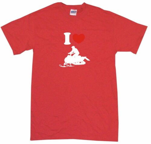 6XL I Heart Love Snowmobile Rider Mens Tee Shirt Pick Size /& Color Small