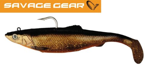 Savage Gear 3D HERRING BIG SHAD Gummifisch Red Fish Meeresköder für Heilbutt