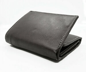RFID-Blocking-Black-Handcrafted-Cowhide-Leather-Men-039-s-Trifold-Premium-Wallet