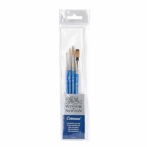 Winsor /& Newton Cotman Artiste 4 pinceaux Wallet Set aquarelle gouache encre 5390604