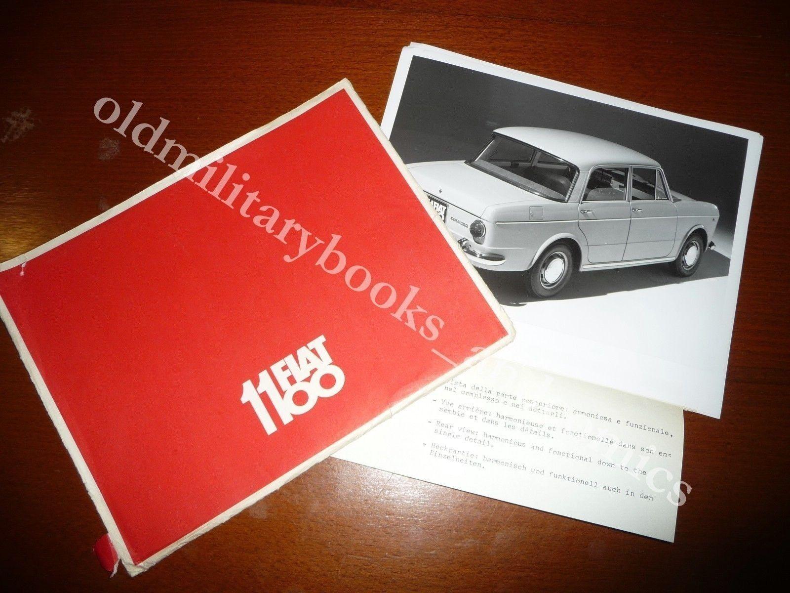 RACCOGLITORE PUBBLICITARIO CON 8 FOTO DESCRITTIVE DELLA FIAT 1100 co DESCRIZIONE