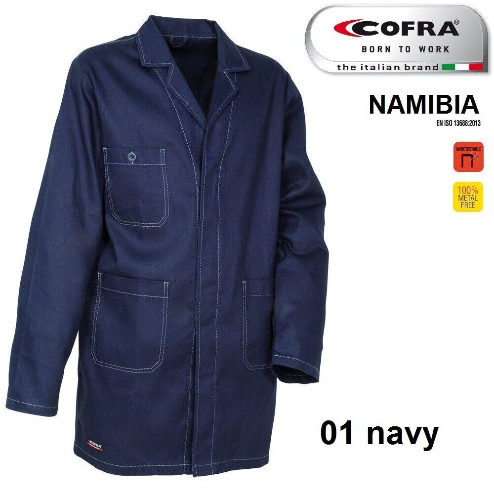 Immagine 4 - Camice da lavoro COFRA modello NAMIBIA 100% cotone 270 g/m² industria logistica