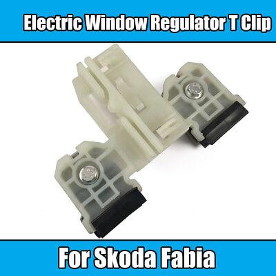 1x Electric Window Regulator Clip For Skoda Fabia Front Left White Plastic Metal