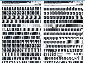 MECANORMA #318 CHURCHWARD ROMAN 10mm Lettering Transfers A3 Fonts,Typo
