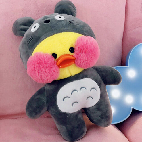 Lalafanfan Cafe Mimi Yellow Duck Plush Toy Stuffed Doll Cute Collection Kids Toy