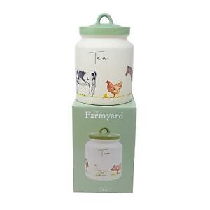 BOXED-JENNIFER-ROSE-KITCHEN-FARM-COW-GOOSE-PIG-HEN-HORSE-TEA-JAR-CONTAINER
