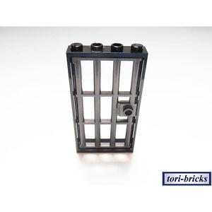Baukästen & Konstruktion LEGO City Tür schwarz mit Gitter grau 1x4x6 60596 60621 LEGO Bau- & Konstruktionsspielzeug