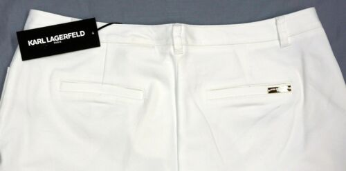NWT $79 Karl Lagerfield Womens Pants Size 16 6 Stretch White NEW Zippered