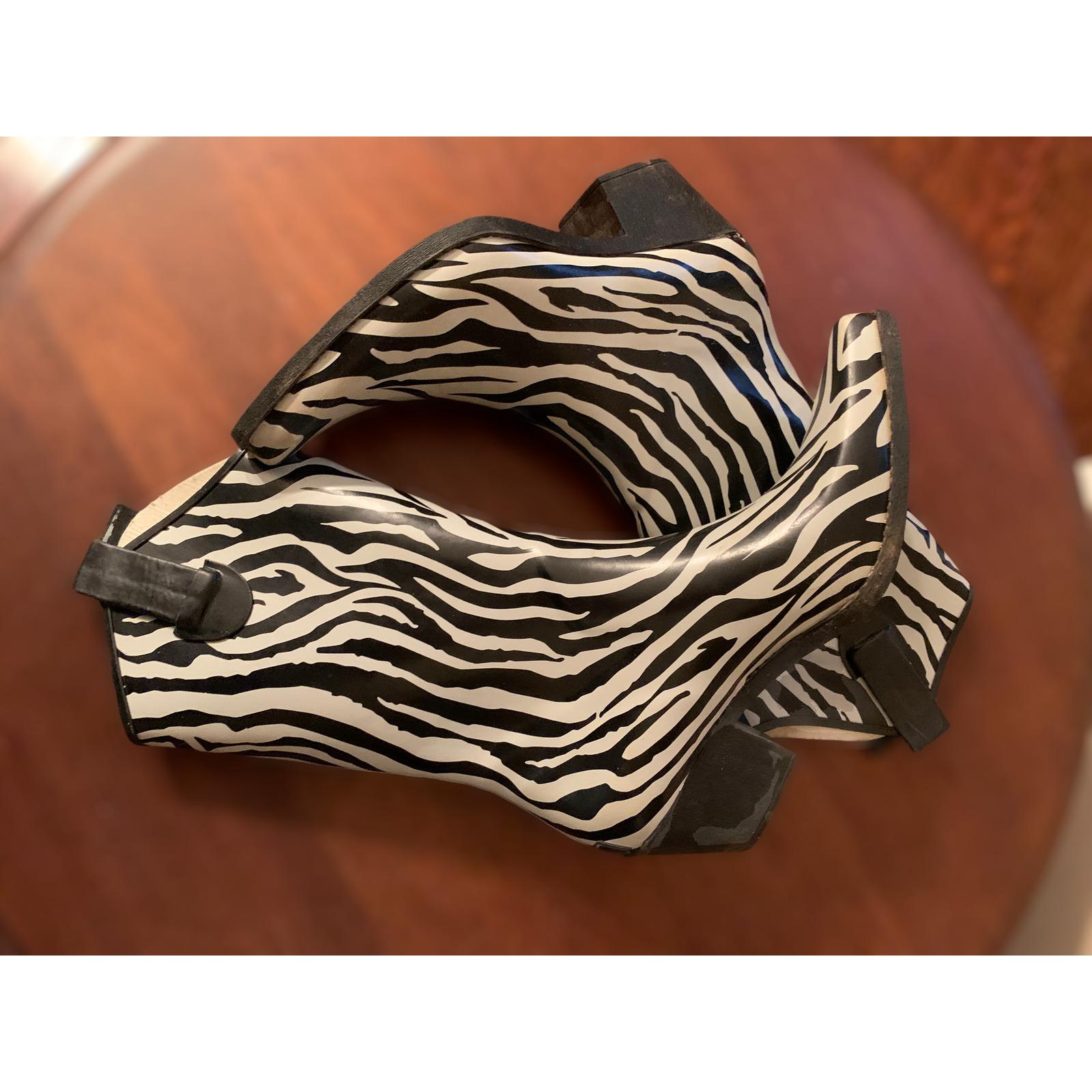 Corkys Western Cowgirl Zebra Print Rubber Rain Bo… - image 8