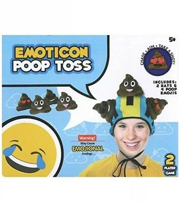 Emoji Poop Toss Game 2 Player Includes 2 Hat Silly Fun Toy Gift Novelty emoticon