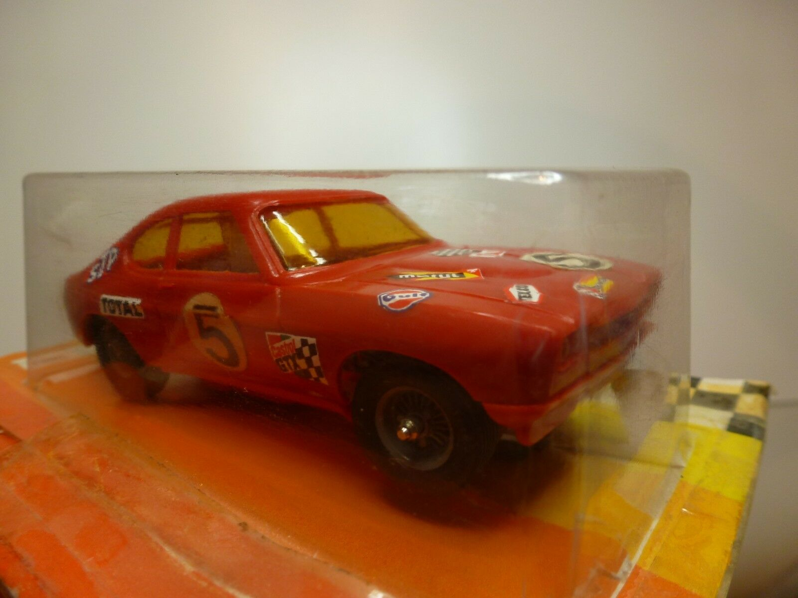 JOUEF JOUEF JOUEF 3657 SLOT CAR FORD CAPRI - rosso L10.0cm - RARE - GOOD IN CARD-BLISTER 52c808