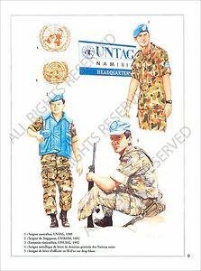 PLANCHE-UNIFORMS-PRINT-Casques-bleus-United-Nations-peacekeeping-ONU-UN-Forces
