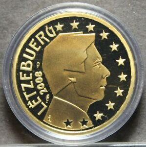 Luxembourg-20-Cents-2008-Encapsulated-Proof-RARE-2-500-Minted-Henry-Ruler-Fr-Sh