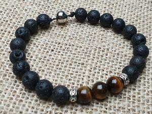Edelstein-Armband-mit-Lava-Tigeraugen-Perlen-Tibet-Magnetverschluss-8-mm