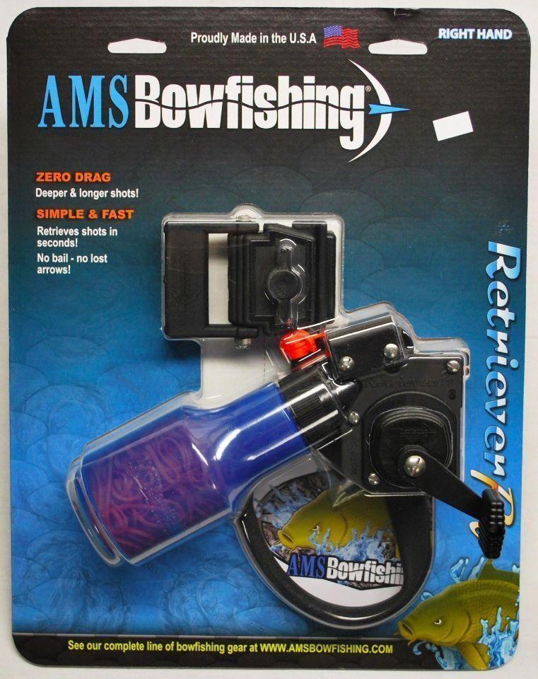 Nuevo AMS arco Retriever Pro Con Cocherete Trenzado Dacron 610-12-RH