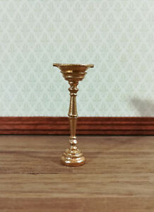 Dollhouse Miniature Unfinished Metal Footed Bowl