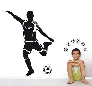 Sport Junge Deko Aufkleber Kinderzimmer Wandaufkleber WandTattoo 11x Fußballer
