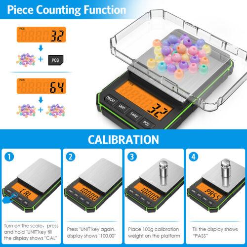 0.01g-200g//300g LCD Digital Balance Kitchen Jewelry Gram Scale Food Gold Weight