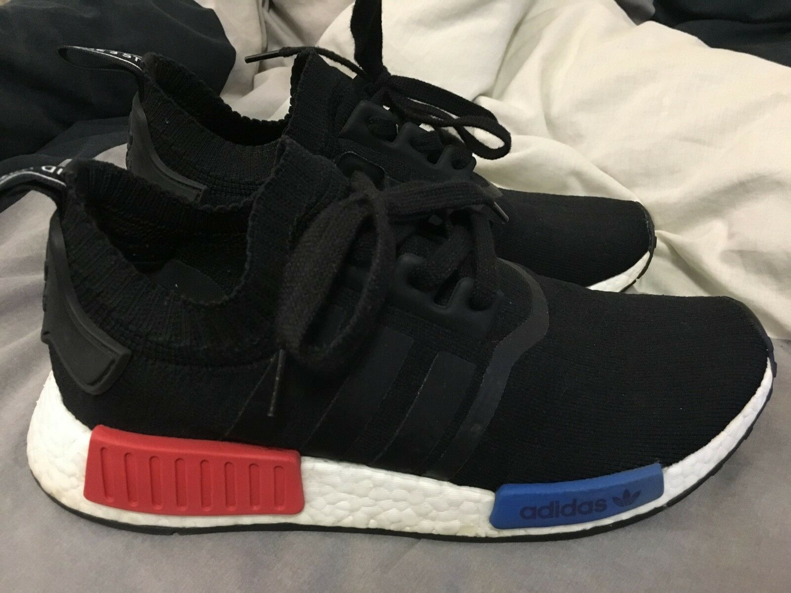 Adidas Shoes Men NMD R1 Primeknit Black Blue Red Casual Shoes Adidas Sz 9 Originals S79168 OG f0713c