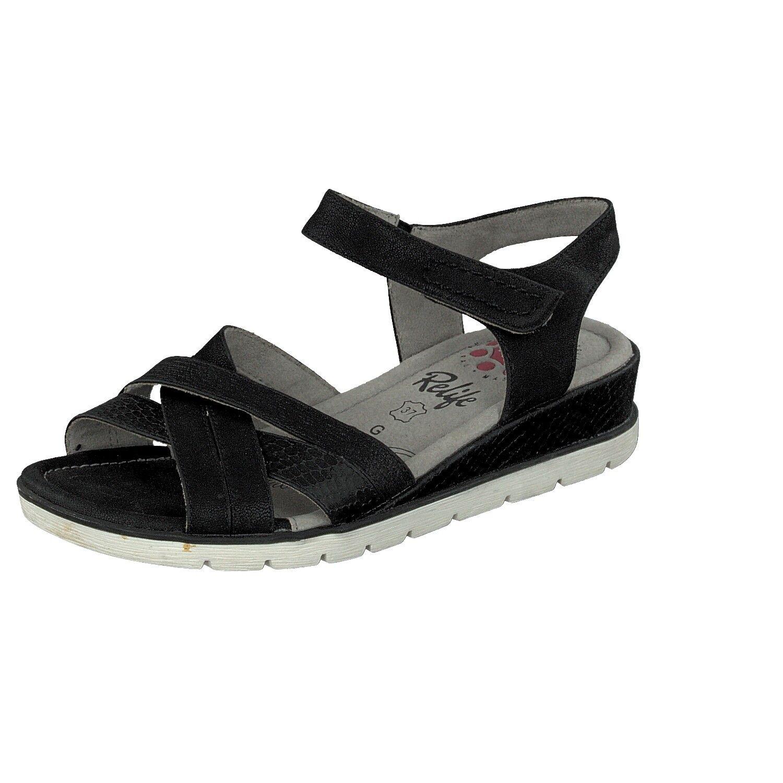 relife Zapatos Mujer Sandalias Tallas Extra Grandes 8717-16710-22 NEGRO CON