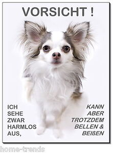 Haustierbedarf Chihuahua-hund-aluminium-schild-0,5-3 Mm Dick-türschild-warnschild-hundeschild Außen- & Türdekoration