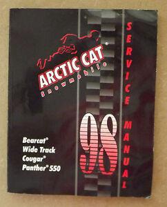 98 arctic cat bearcat cougar panther 550 service manual ebay rh ebay com Arctic Cat ATV Repair Manuals Arctic Cat Serial Number Lookup