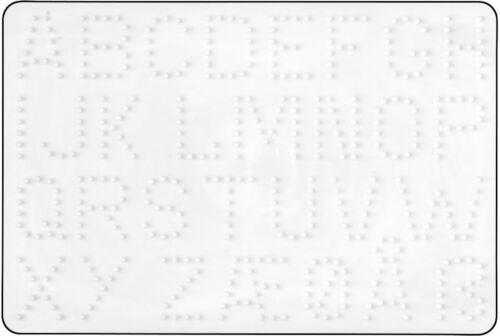 Hama Midi Bügelperlen Stiftplatte weiß 272 Buchstaben