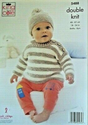 KCP-... King Cole Boys Sweater /& Slipover Comfort Knitting Pattern 4150 DK