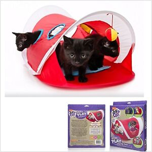Peek And Play Pop Up Cat Tent Toy Windows Dangle Toys