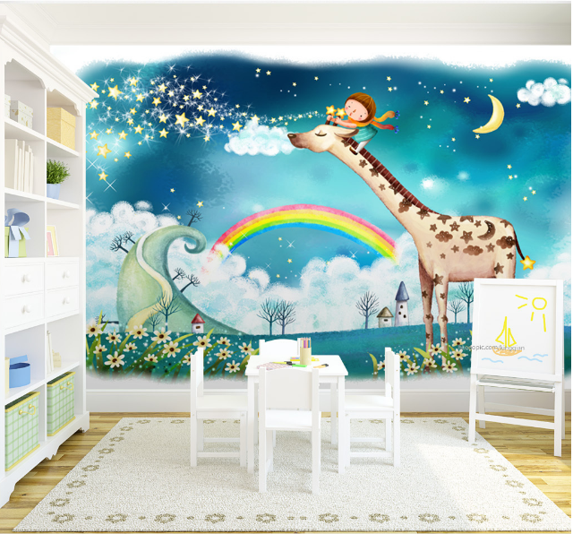 3D Rainbow Sky 469 Wallpaper Murals Wall Print Wallpaper Mural AJ WALL AU Lemon