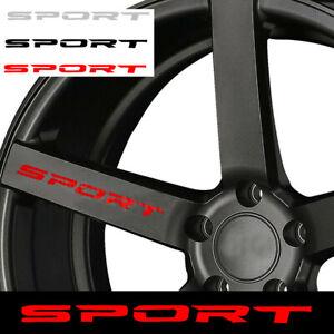 4 × SPORT Style Car Door Rims Wheel Hub Racing Sticker Graphic Decal Accessories