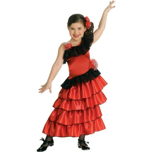 Flamenco Dancer Girl Spanish Princess Costume International Book Week S-M-L