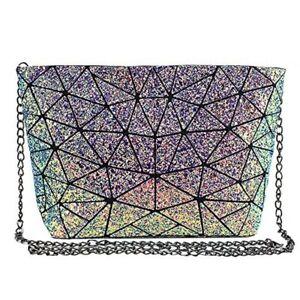 Fashion-Holographic-Laser-Shoulder-Bag-Geometric-Envelope-Clutch-Chain-Crossbody