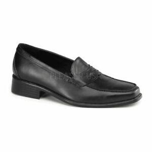 POPSTAR-09 SLIP-ON PENNY LOAFER IN BLACK Michael Jackson Costume Shoes