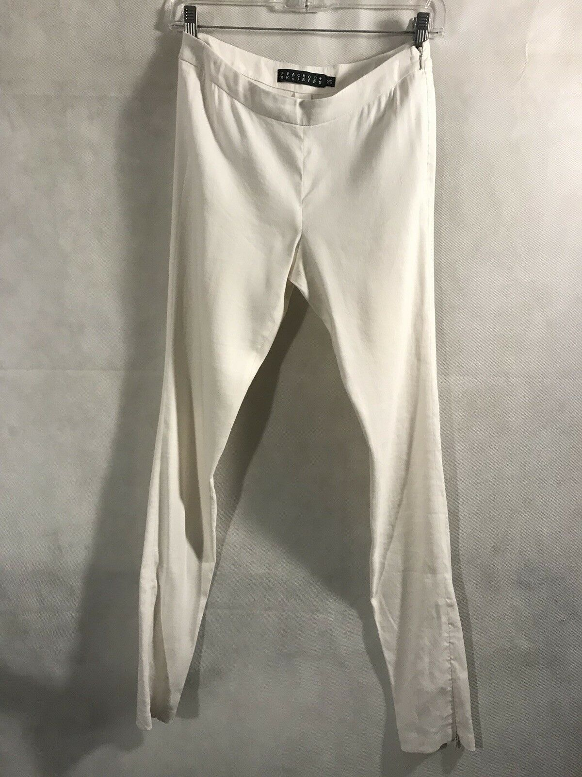 PEACHOO+KREJBERG Essential Ivory White Fitted Pant ,Great Condition,Sz. 36