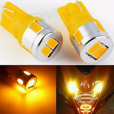 T10 Wedge 12V Bright Yellow SMD 194 168 2825 Corner Marker Amber LED Lights Bulb