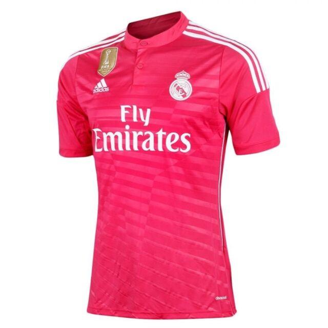 Real Madrid adidas Pink Men S WC Away Short Sleeve Football Shirt ... 2ecfe217c