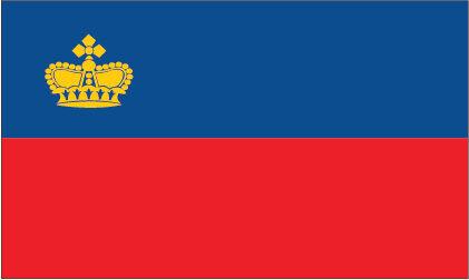 Bandera temática Liechtenstein Bandera pegatina de vinilo X 6-Internacional