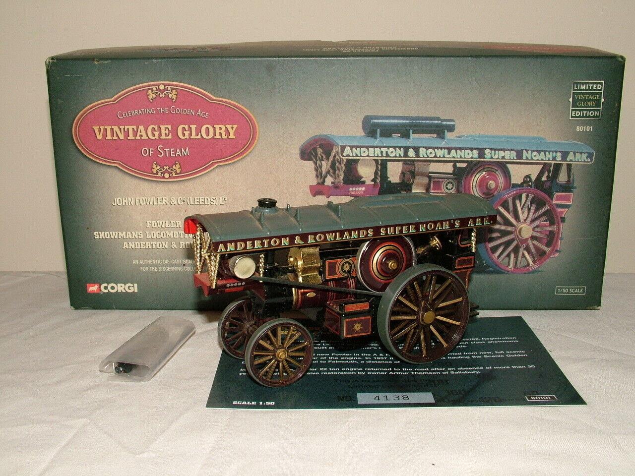 Corgi Vintage Glory Glory Glory No 80101 Fowler showmans engine Anderson & Rowland VNMB 9956a0