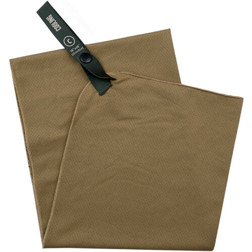 """Gear Aid McNett Tactical 15/"""" x 36/"""" Cooling Towel Coyote"""