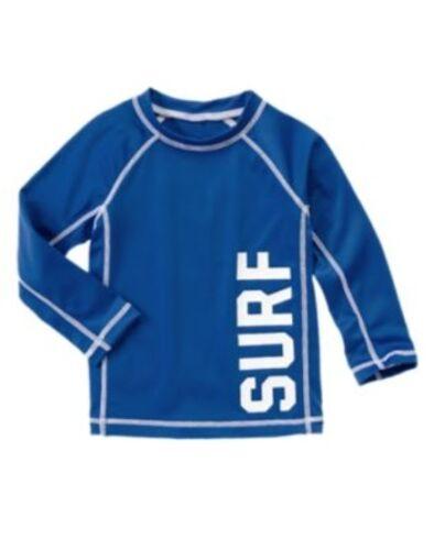 GYMBOREE SWIM SHOP BLUE SURF L//S RASH GUARD 6 12 18 NWT-NWOT