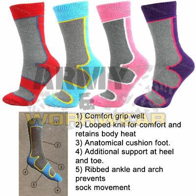 1 /& 3 Pairs Ladies Boot Wool Blend Socks Hiking Walking Long Warm Size UK 4-7