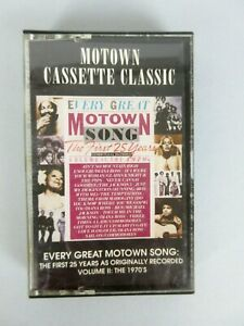 Vintage 1984 Every Great Motown Song Vol 2: The 1970's Cassette Tape