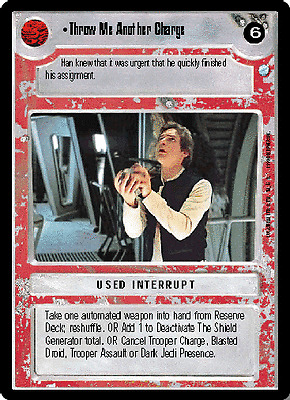 THEED PALACE star wars ccg swccg Tank Commander choose condition
