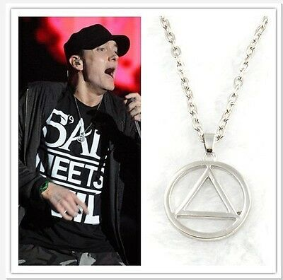 Music Hot Eminem The Best RAPPER Grammy Titanium Steel Chain Rock Pop Necklace