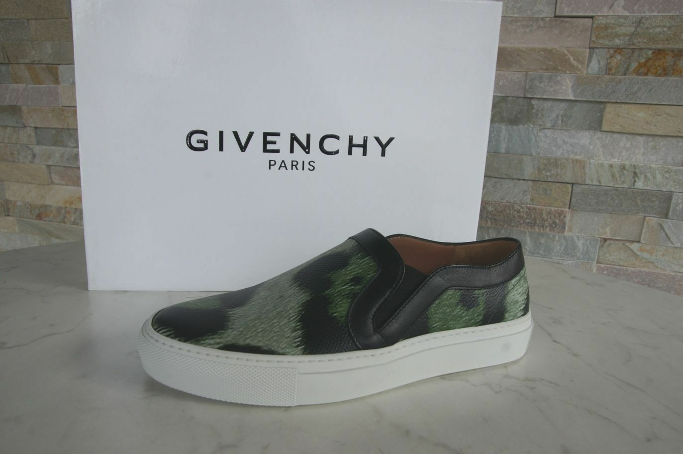 GIVENCHY PARIS Gr 35,5 Slipper Mokassins Slip-On Schuhe multicolor NEU