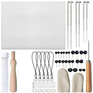 40x-Filznadeln-Nadelfilzen-Nadelhalter-Starterset-Nadeln-Schwaemme-Zubehoer-DIY